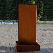 Aqua Moda Corten Steel Staffora 1.56m Garden Water Feature with Corten Steel Base and LED Light