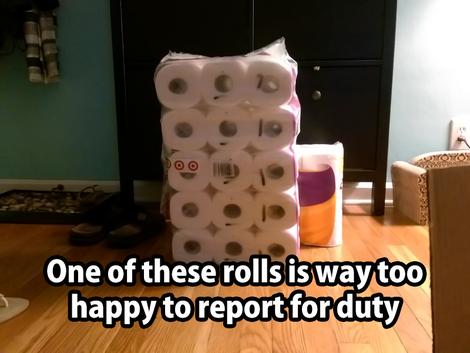 Happy toilet roll