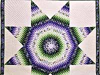 King Purple and Green Lone Star Country Bride Quilt