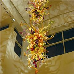 9- Dale Chihuly chandelier