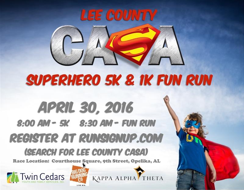 Lee County CASA Superhero 5K and 1K Fun Run!