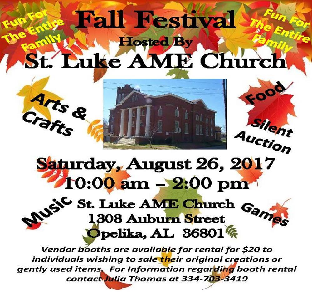 Fall Festival At St Luke A M E Church