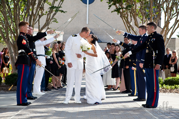 Military wedding photography