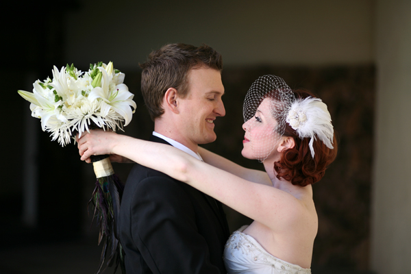 visor veil wedding photo
