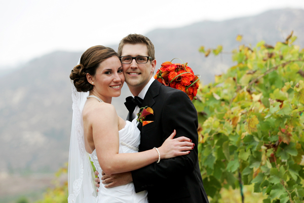 tangerine tango vineyard wedding photo