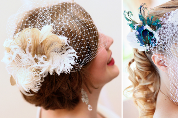 birdcage visor veil bridal headpiece