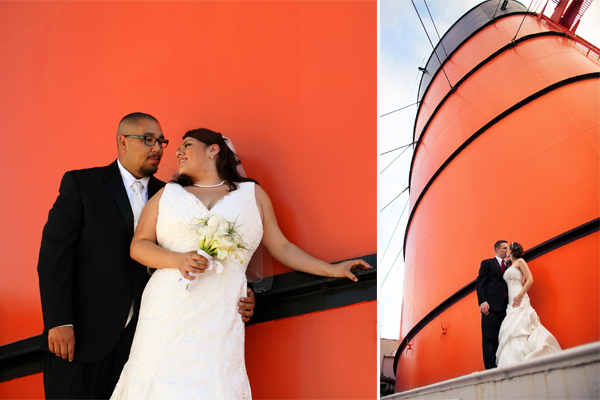 tangerine tango wedding photography on a boat
