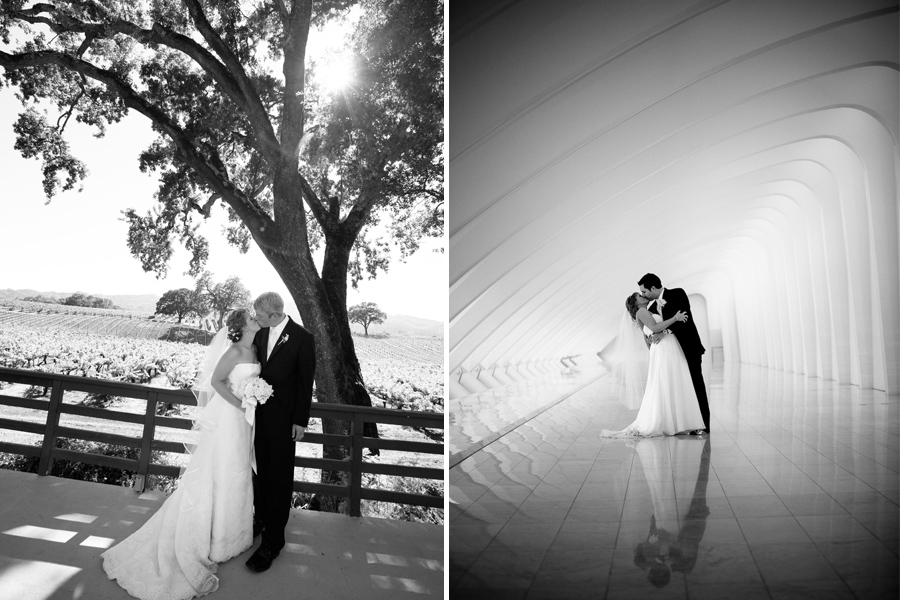 Black and White wedding portrait 09