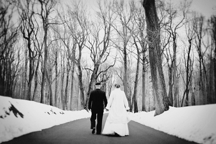 Black and White wedding portrait 12