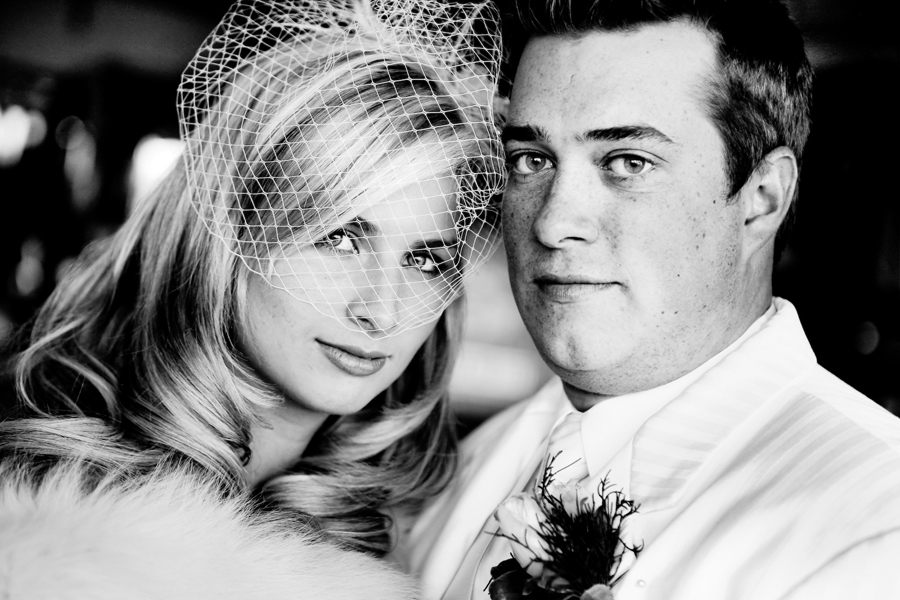 Black and White wedding portrait 13