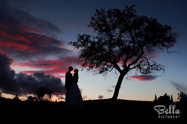 vivid sunset wedding photography