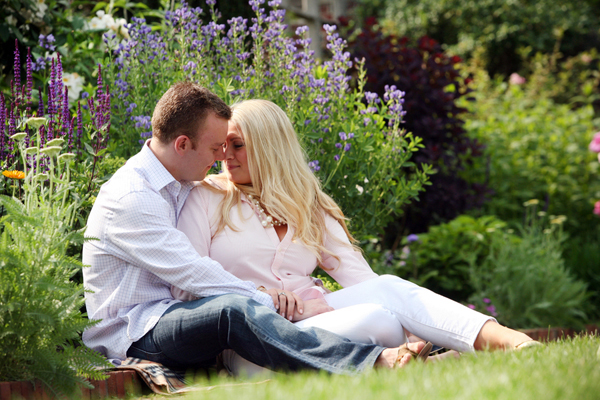 couple sitting in the grass