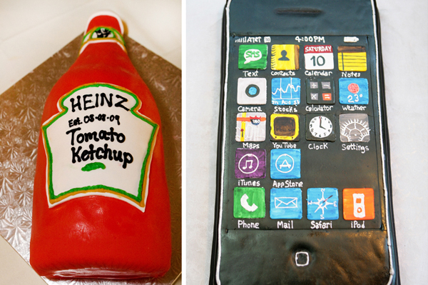 heinz kethchup bottle grooms cake/ iphone grooms cake
