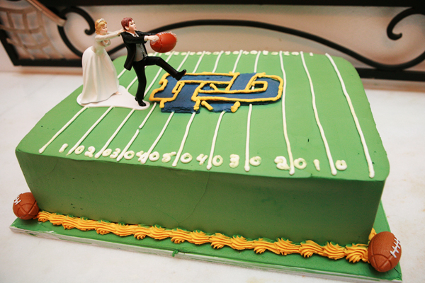 football field grooms cake