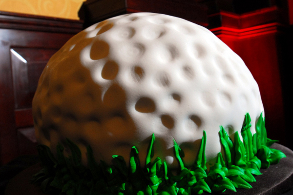golf ball grooms cake