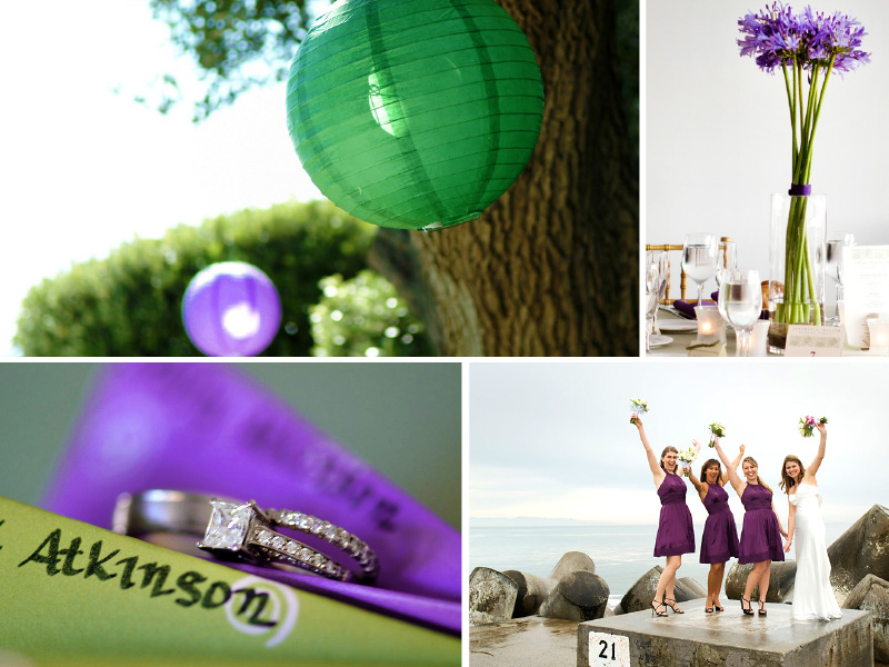 purple and green inspiration board photography 02