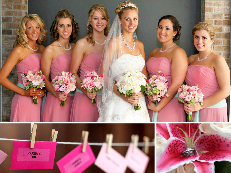 pink wedding inspiration board 01