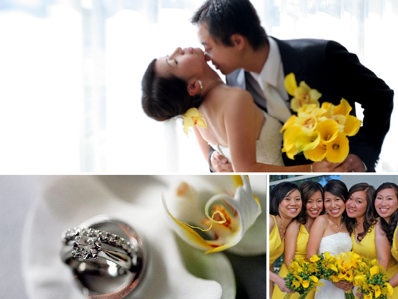 Yellow and white wedding colors inspiration board 01