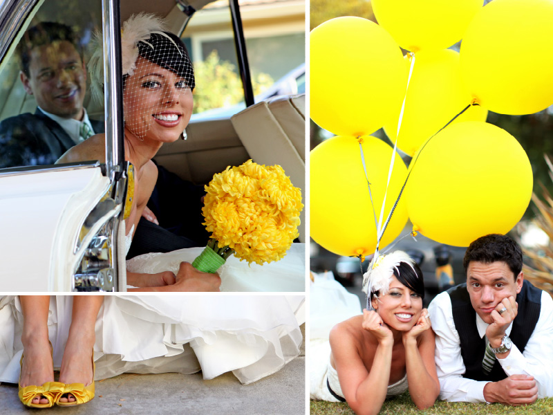 Yellow and white wedding colors inspiration board 02