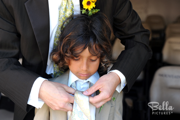 wedding photo of child getting ready