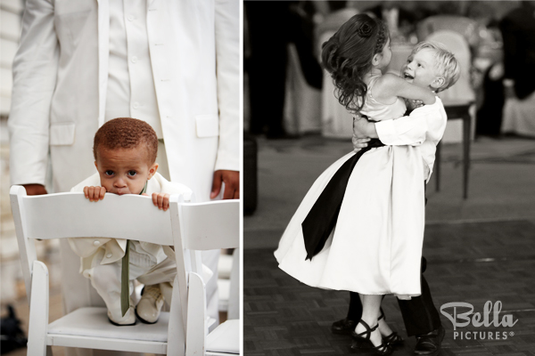 wedding photography of playful children