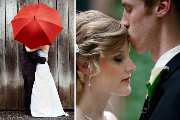 photos of romantic kisses on wedding day