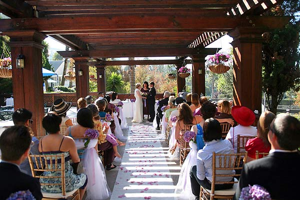 The Claremont Hotel Club and Spa outdoor ceremony