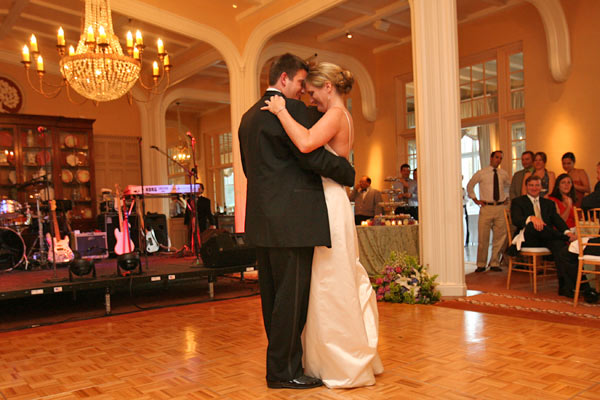 The Claremont Hotel Club and Spa bride and groom dance