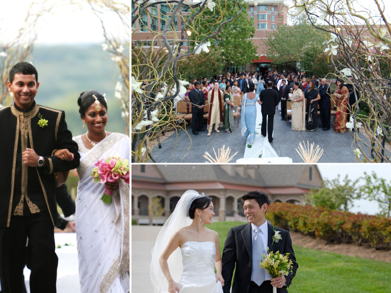 outdoor wedding ceremony at landsdowne resort