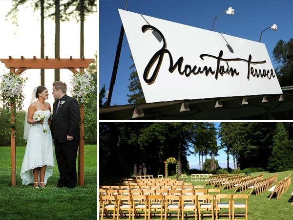 mountain terrace outdoor wedding ceremony