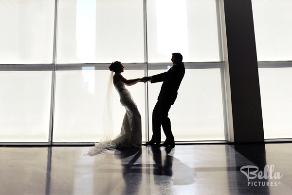 artistic wedding image of couple dancing