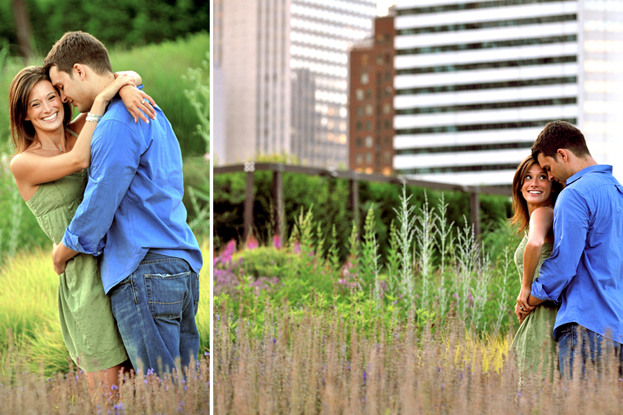 Millenium Park Laurie Garden Chicago Illinois engagement photography 2