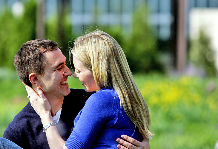 Millenium Park Laurie Garden Chicago Illinois engagement photography 3