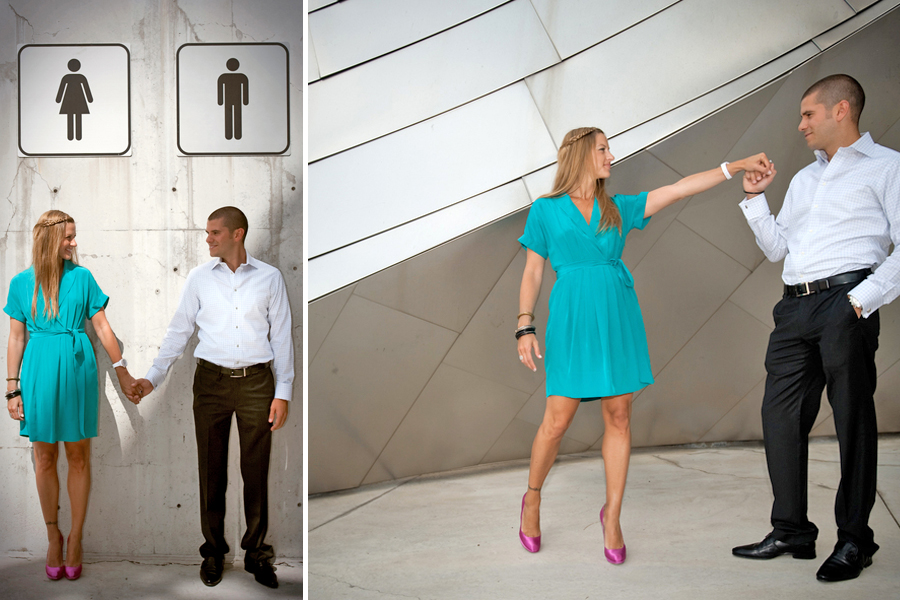 Millenium Park Jay Pritzker Pavilion Chicago Illinois engagement photography 2