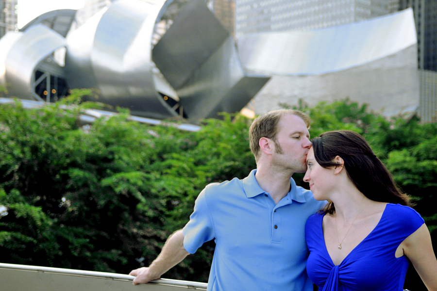 Millenium Park Jay Pritzker Pavilion Chicago Illinois engagement photography 3
