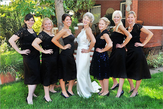 bridal party wedding photography denver colorado