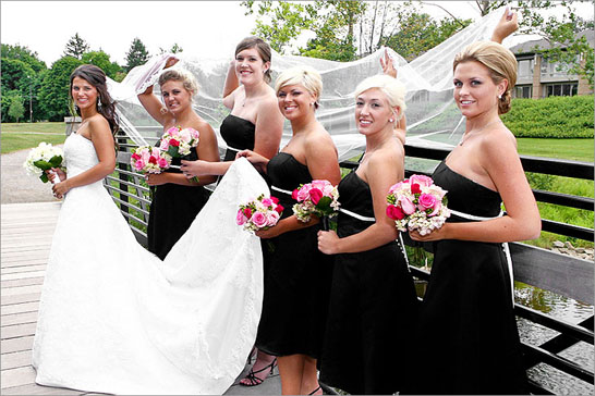 bridal party wedding detroit michigan