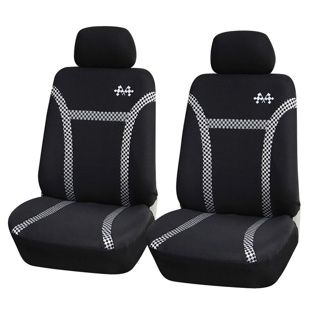 Adeco Set of 4-Piece Car Vehicle Front Seat Covers Universal Fit Black Gray at Sears.com