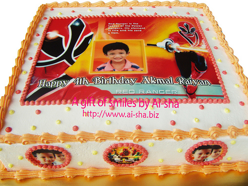 Birthday Cake Edible Image Power Rangers