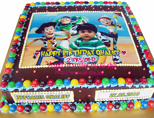Birthday Cake Edible Image Toys Story Ai-sha Puchong Jaya