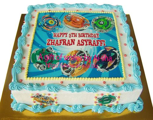 Birthday Cake Edible Image Beyblade