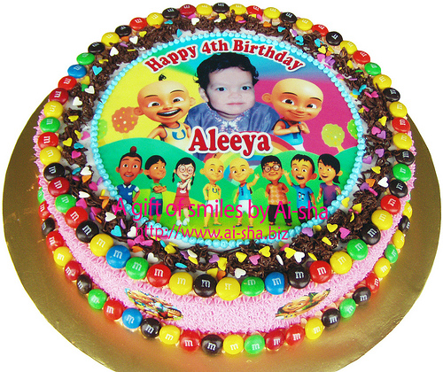 Birthday Cake Edible Upin& Ipin