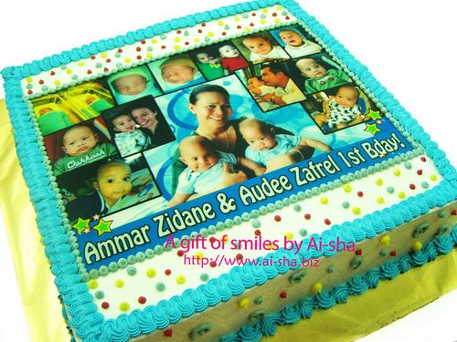 Birthday Cake Edible Image Kek Harijadi Ammar Zidane ...