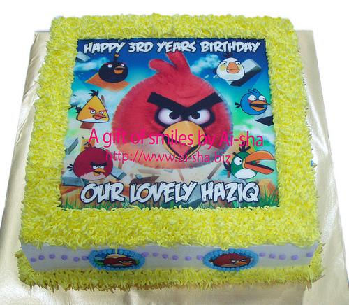Birthday Cake Edible Image Angry Birds