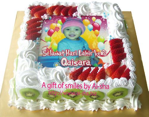 Cake Images With Name Hari : Birthday Cake Edible Image Selamat Hari Lahir Ke 2 ...