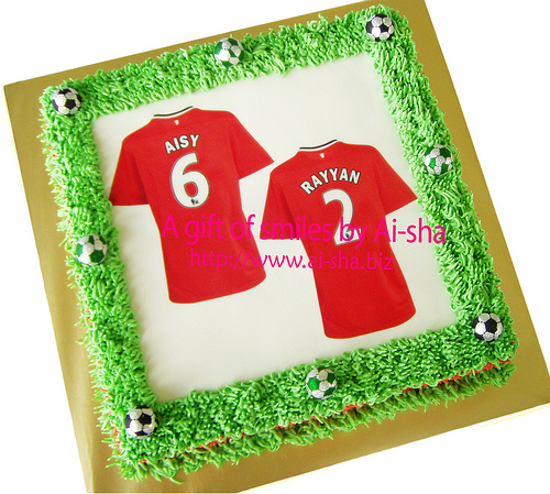 Edible Cake Images Nj : Birthday Cake Edible Image Jersey MU Kek Harijadi Jersey ...