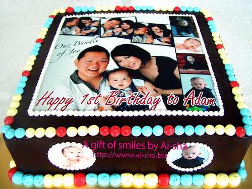 Birthday Cake Edible Pictures : Birthday Cake Edible Image - Aisha Puchong Jaya