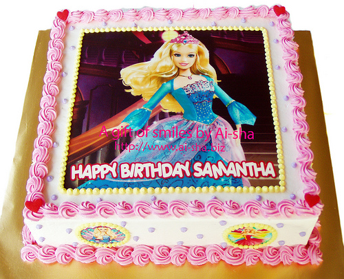 Birthday Cake Edible Image Barbie