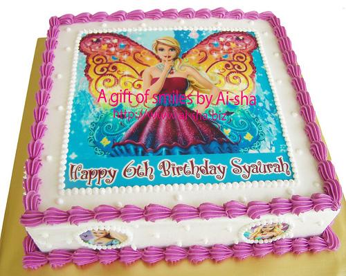 Birthday Cake Edible Image Barbie Ai-sha Puchong Jaya