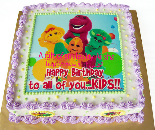 Birthday Cake Edible Image Barney